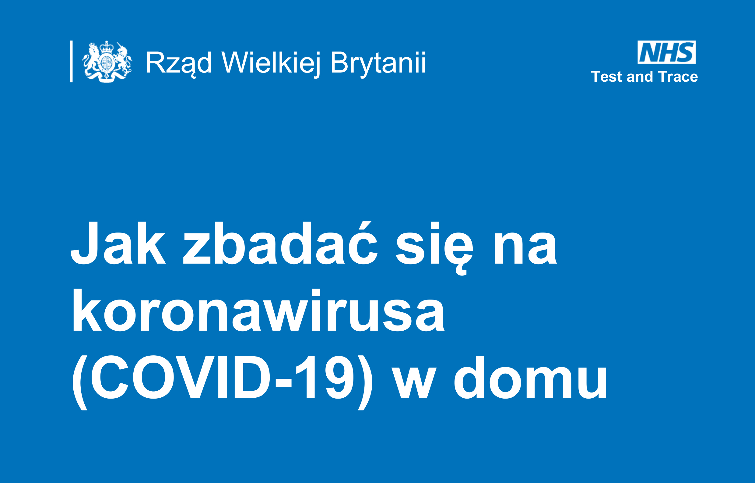 How to test yourself for coronavirus (COVID-19) at home - Polish