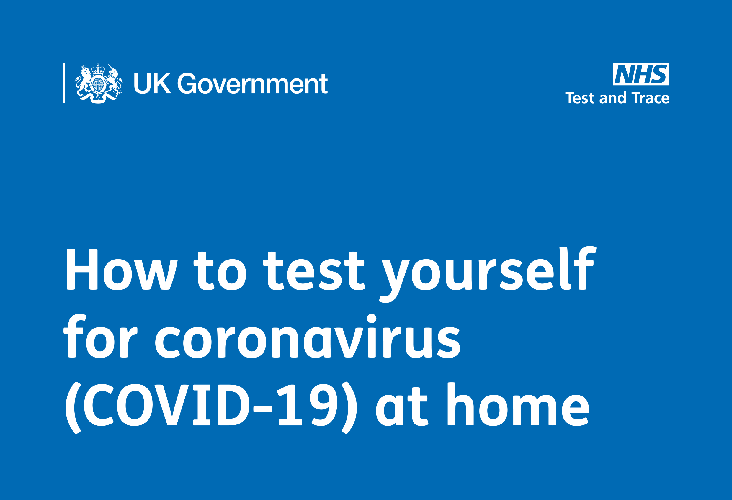 How to test yourself for coronavirus (COVID-19) at home - English
