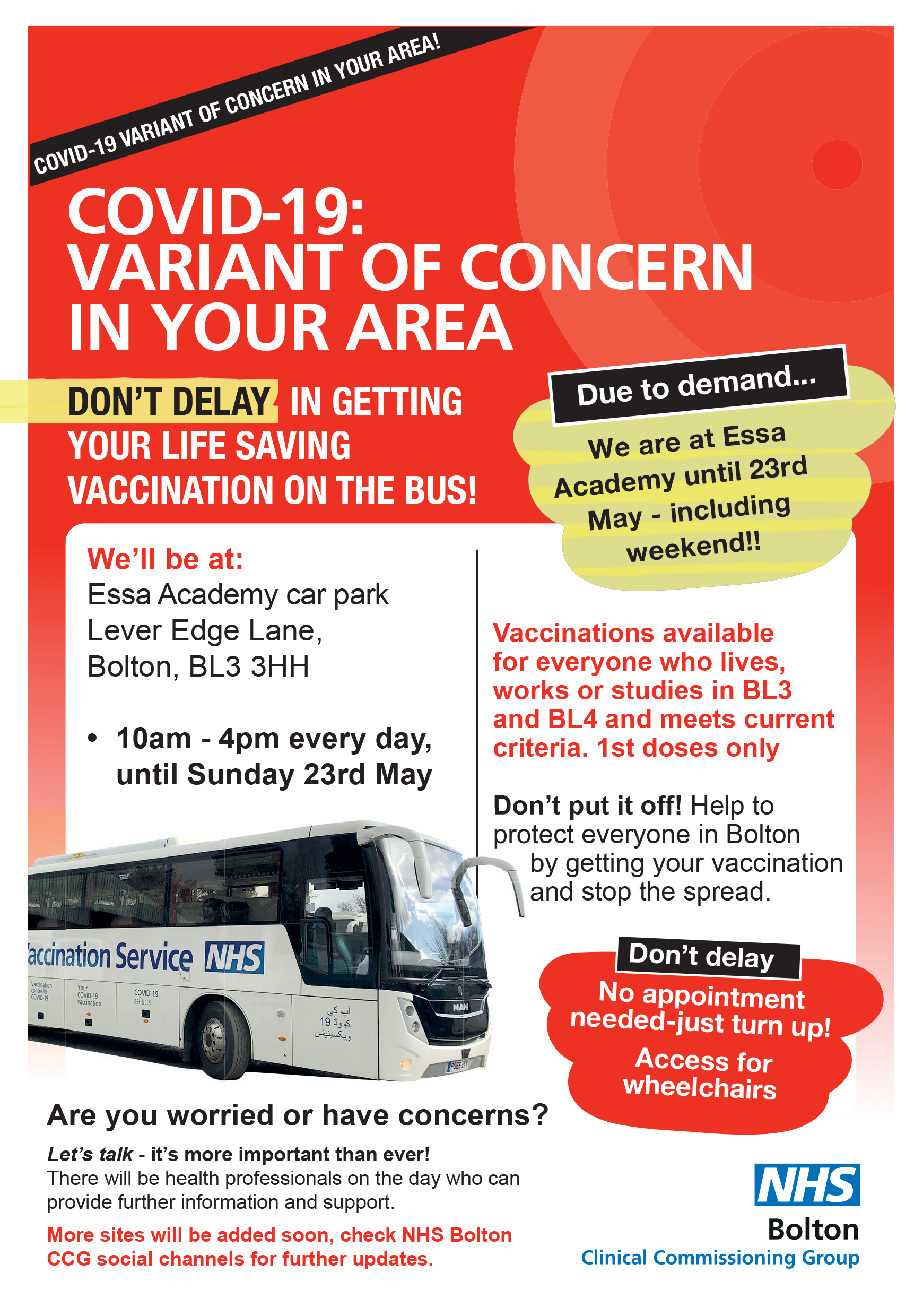 Variant of concern - vaccination bus