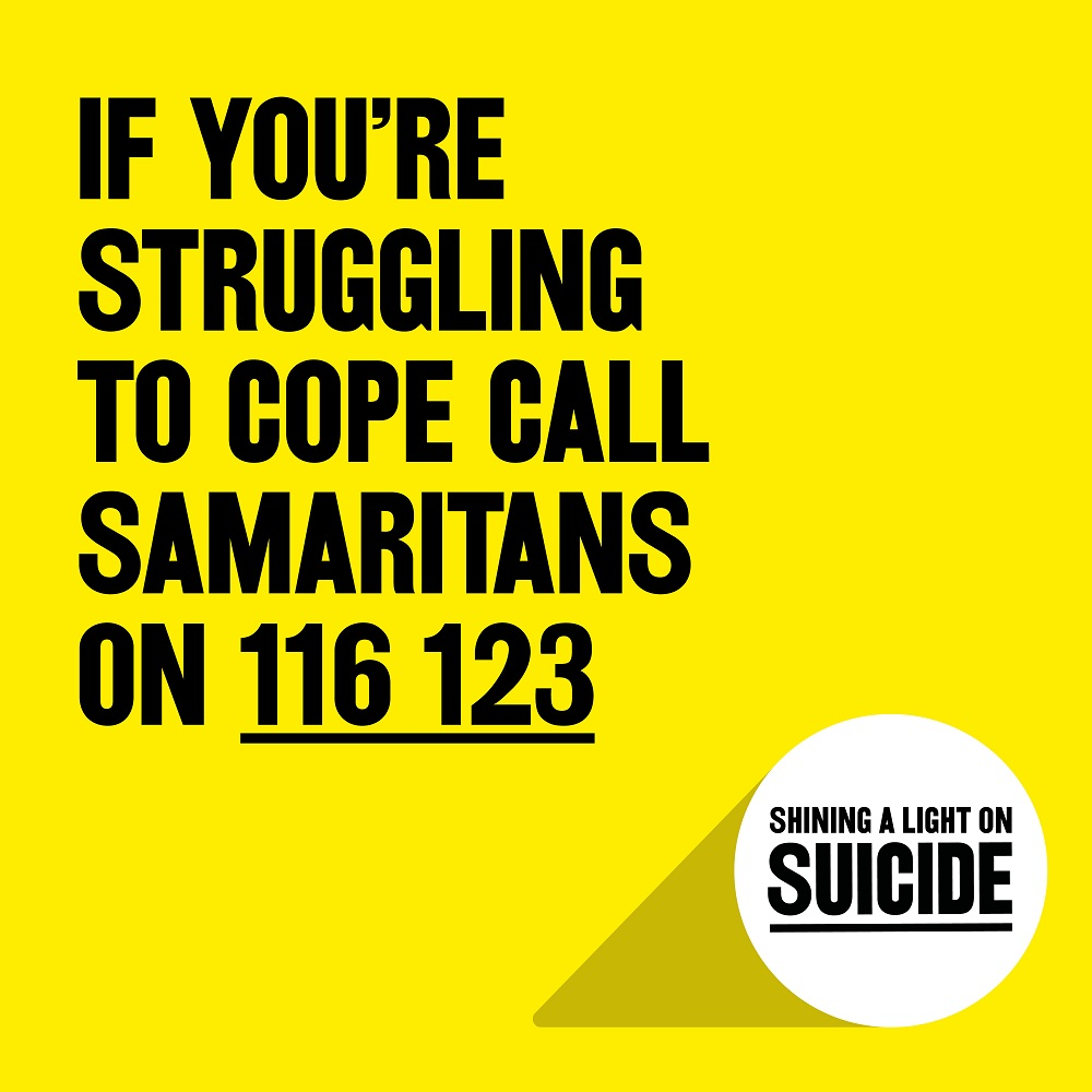 If you are struggling to cope please call the Samaritans on 116 123