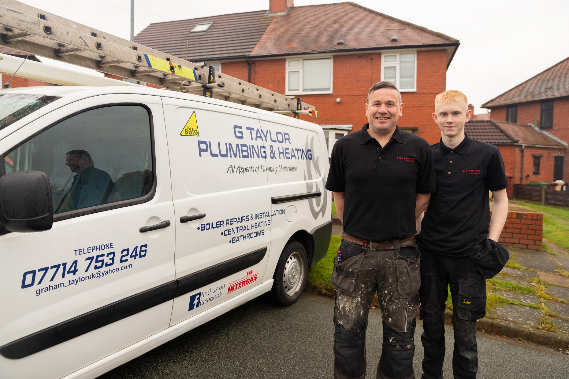 Graham taylor with apprentice ewan g taylor plumbing and heating