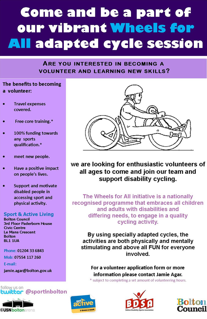 Support disability cycling poster